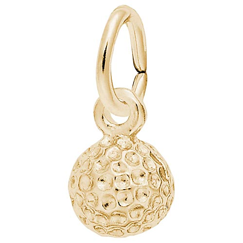 14K Gold Golf Ball Accent Charm by Rembrandt Charms