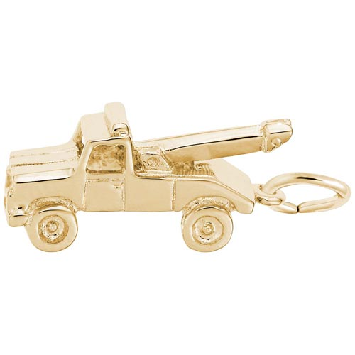 14K Gold Tow Truck Charm by Rembrandt Charms