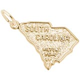 14K Gold Hilton Head, SC. Map Charm by Rembrandt Charms