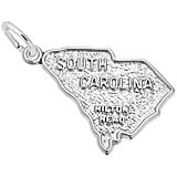 14K White Gold Hilton Head, SC. Map Charm by Rembrandt Charms