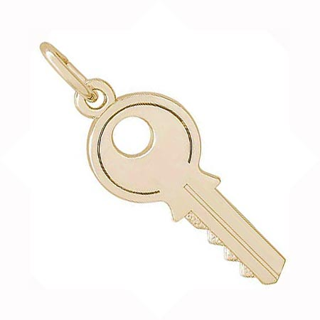 Gold Plate House Key Charm by Rembrandt Charms