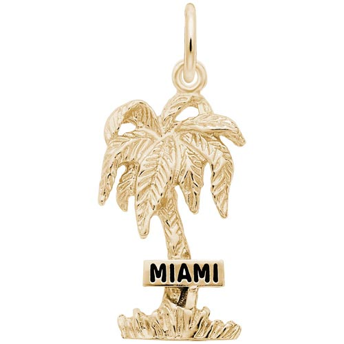14K Gold Miami Palm Tree Charm by Rembrandt Charms