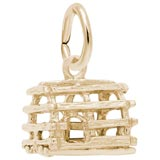 Gold Plate Lobster Trap Accent Charm by Rembrandt Charms