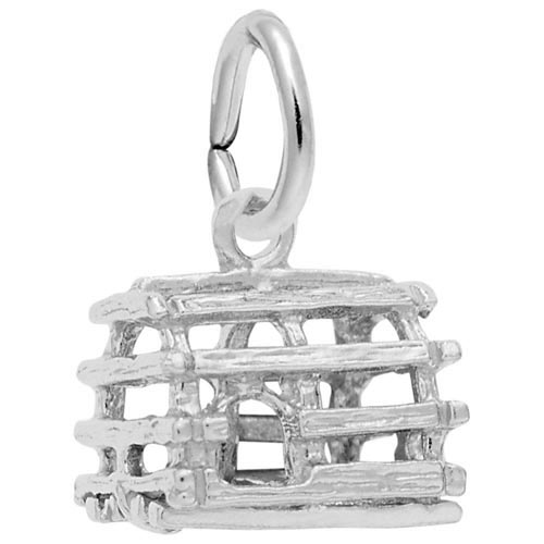 14K White Gold Lobster Trap Accent Charm by Rembrandt Charms