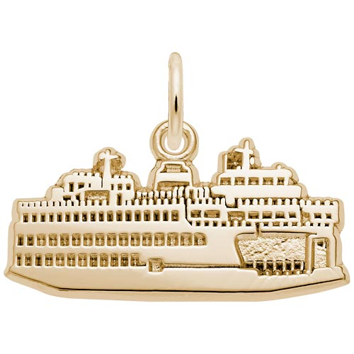 14k Gold Washington State Ferry Charm by Rembrandt Charms