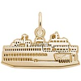 Gold Plate Washington State Ferry Charm by Rembrandt Charms