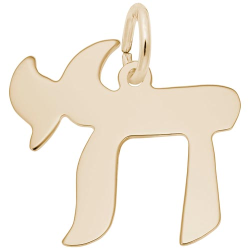 Gold Plate Chai Charm by Rembrandt Charms