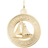 10K Gold Annapolis Sailboat Ring Charm by Rembrandt Charms