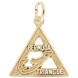 Gold Plated Bermuda Triangle Charm by Rembrandt Charms