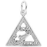 14K White Gold Bermuda Triangle Charm by Rembrandt Charms