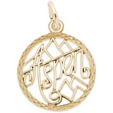 Gold Plate Aspen, Colorado Faceted Charm by Rembrandt Charms