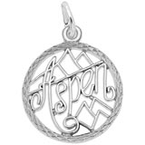 Sterling Silver Aspen, Colorado Faceted Charm by Rembrandt Charms