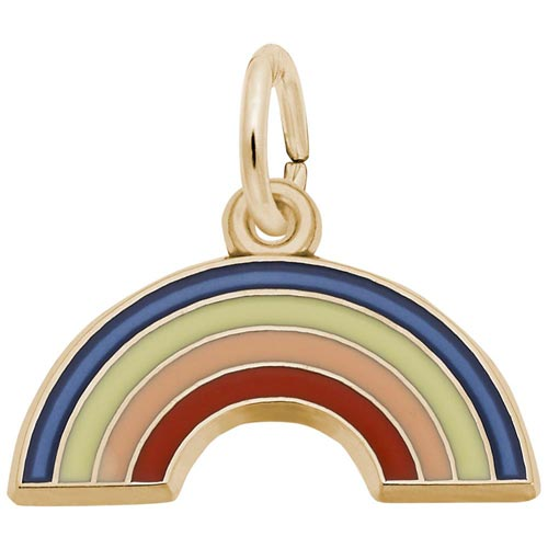 10K Gold Rainbow Charm by Rembrandt Charms