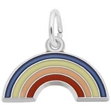 14K White Gold Rainbow Charm by Rembrandt Charms