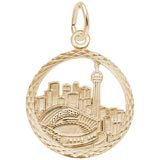 Gold Plated Toronto Skyline Faceted Charm by Rembrandt Charms