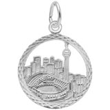 14K White Gold Toronto Skyline Faceted Charm by Rembrandt Charms