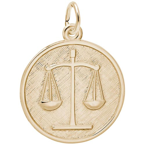 14k Gold Scales of Justice Charm by Rembrandt Charms