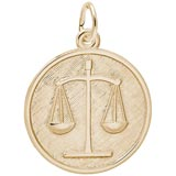 Gold Plated Scales of Justice Charm by Rembrandt Charms