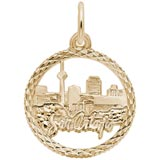 14K Gold San Antonio TX. Skyline Charm by Rembrandt Charms