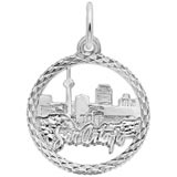 Sterling Silver San Antonio TX. Skyline Charm by Rembrandt Charms