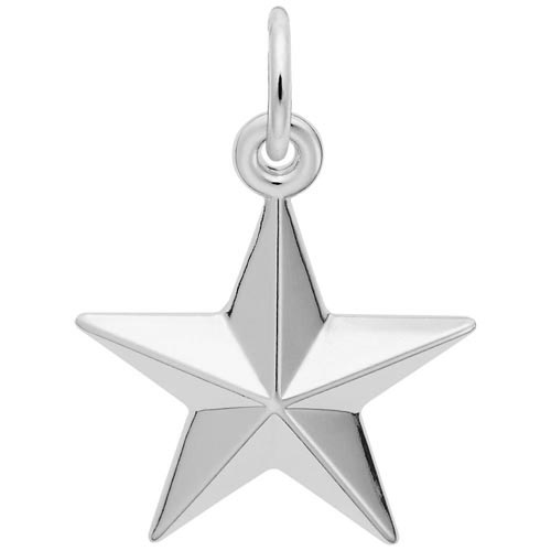 14K White Gold Star Charm by Rembrandt Charms