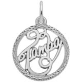 Sterling Silver Tampa Faceted Charm by Rembrandt Charms