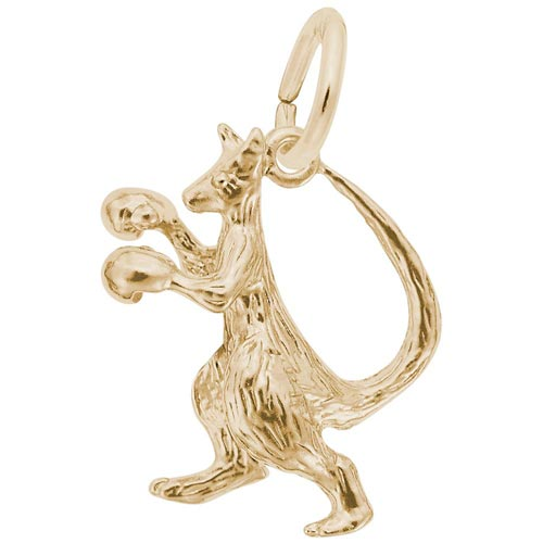 Gold Plated Boxing Kangaroo Charm by Rembrandt Charms