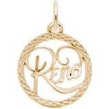 10K Gold Reno Nevada Faceted Charm by Rembrandt Charms