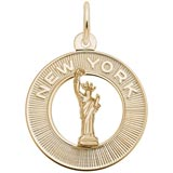 Gold Plated New York Charm by Rembrandt Charms