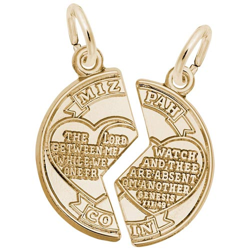 14K Gold Mizpah Charm by Rembrandt Charms