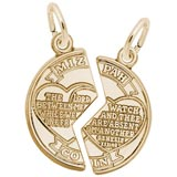 10K Gold Mizpah Charm by Rembrandt Charms
