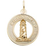 Gold Plated Lighthouse, Hilton Head SC by Rembrandt Charms