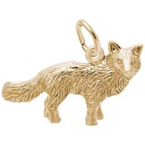 Gold Plated Fox Charm by Rembrandt Charms