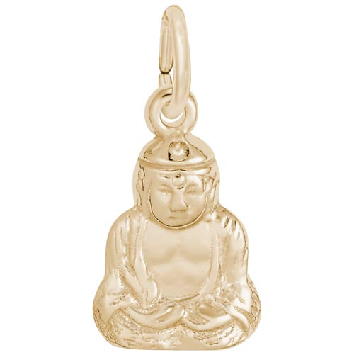 Gold Plate Buddha Accent Charm by Rembrandt Charms