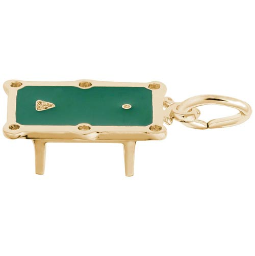 10k Gold Pool Table Charm by Rembrandt Charms