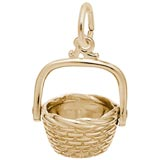 Gold Plated Nantucket Basket Charm by Rembrandt Charms