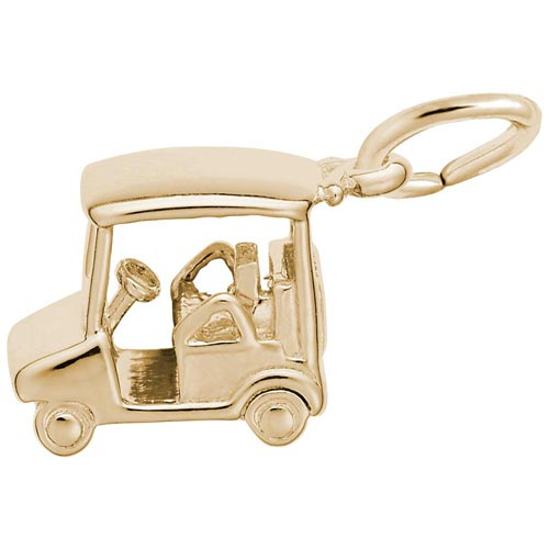 Gold Plated Golf Cart Charm by Rembrandt Charms