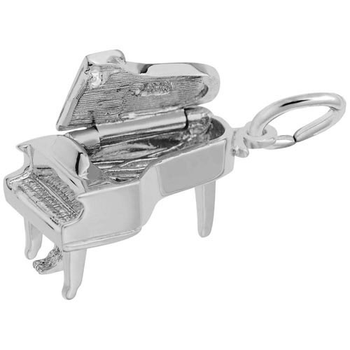 Sterling Silver Baby Grand Piano Charm by Rembrandt Charms