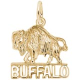 10K Gold Buffalo Charm by Rembrandt Charms