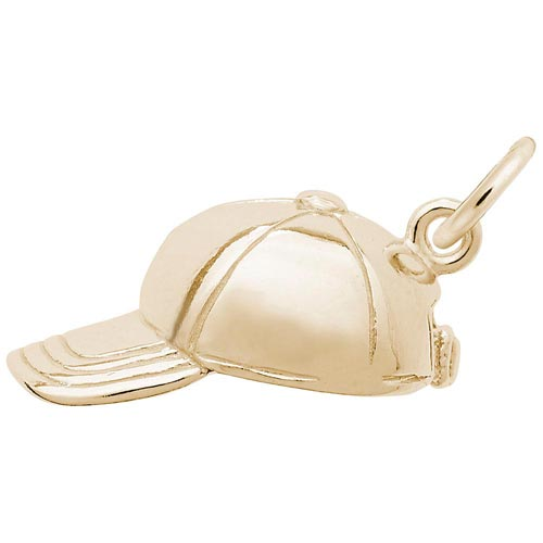 14K Gold Baseball Cap Charm by Rembrandt Charms