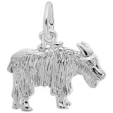 14K White Gold Goat Charm by Rembrandt Charms