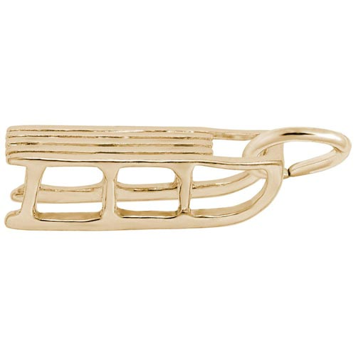 14K Gold Sled Charm by Rembrandt Charms