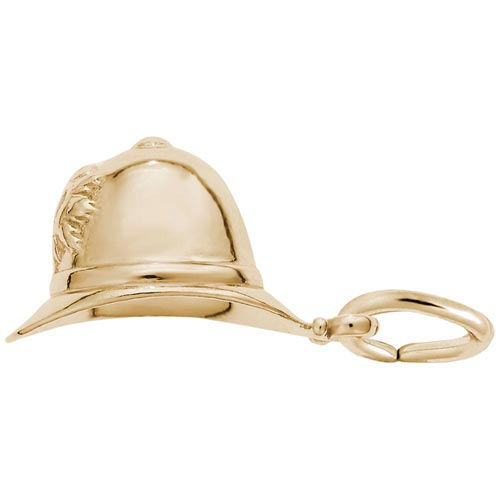 14K Gold Bobby Helmet Charm by Rembrandt Charms