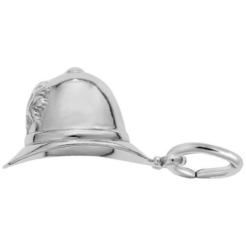 Sterling Silver Bobby Helmet Charm by Rembrandt Charms