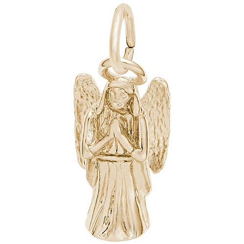 Gold Plate Praying Angel Charm by Rembrandt Charms