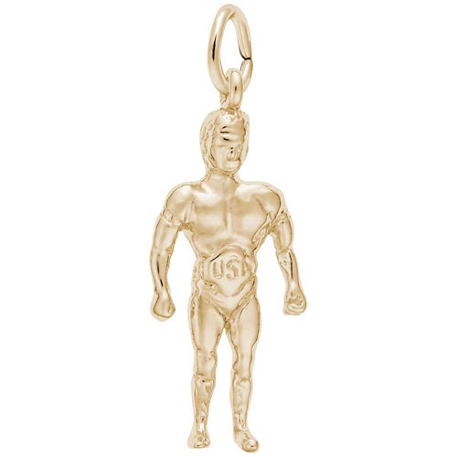 14K Gold Wrestler Charm by Rembrandt Charms