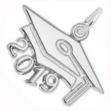 Sterling Silver 2019 Graduation Cap Large Charm