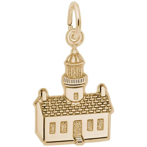 Gold Plated Old Point Loma, CA Lighthouse by Rembrandt Charms