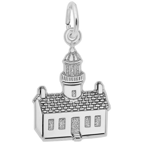 14K White Gold Old Point Loma, CA Lighthouse by Rembrandt Charms