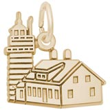 14K Gold West Quoddy Head ME Lighthouse by Rembrandt Charms